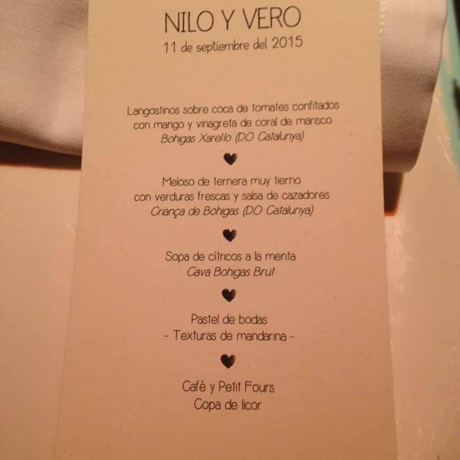 真正晚餐的menu,是有前菜、主菜、甜點的完整menu啊....